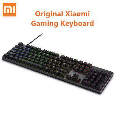 Original Xiaomi Mi Gaming Keyboard 104 Keys Without Punch LED Backlight USB Wired Keyboard