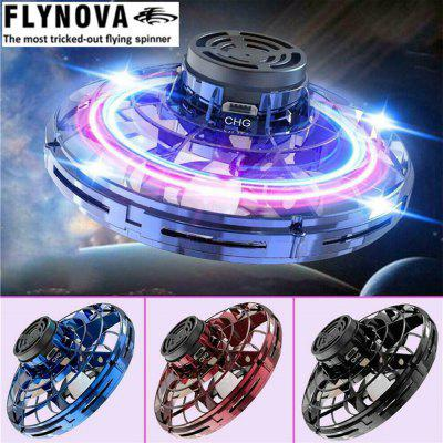 Original Flynova Mini Flying Toy Gyro Rotator Drone UFO Led Finger Fly Spinner Rotary Christmas Gift