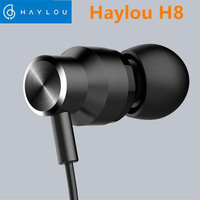 Haylou H8 Stereo Wired Earphones 3.5mm In-Ear Music Earbuds With Mic for Xiaomi Huawei