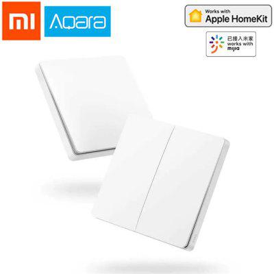 Original Aqara Smart Light Control Wall Wireless Switch Single Double Key Xiaomi Ecosystem Product