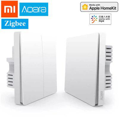Xiaomi Aqara Smart Wall Switch ZigBee Version Single Fire Zero Fire Line Light Wireless APP Control