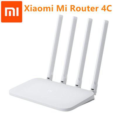 Original Xiaomi Mi WIFI Router 4C 64 RAM 300Mbps 2.4G 4 Antennas Band Wireless Repeater APP Control