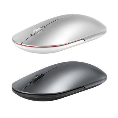 Original Xiaomi Fashion Mouse Portable Wireless Game Mouse 1000dpi 2.4GHz Bluetooth Link Optical Metal Mouse gen game s5 wireless bluetooth controller red with black