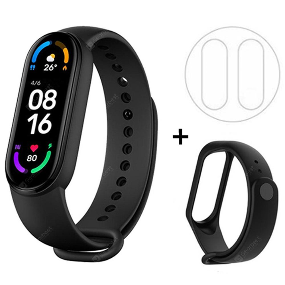 Original Xiaomi Mi Band 6 / 6 NFC Smart Bracelet 1.56 inch AMOLED Screen Blood Oxygen Fitness Traker Bluetooth Waterproof Smart Wristband