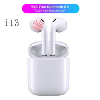 I13 TWS Bluetooth Headset Touch Operation Stereo and Microphone Bluetooth Headset - White