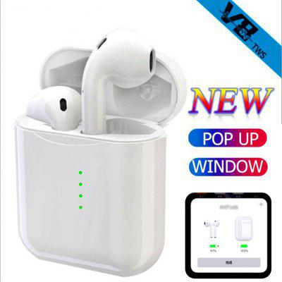 V8 tws pop-up window Bluetooth touch headset real power with charging bin i10 upgrade version