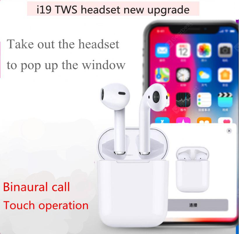 b59c9138589 New upgraded I19 tws touch pop-up wireless stereo sports Bluetooth headset  - White China