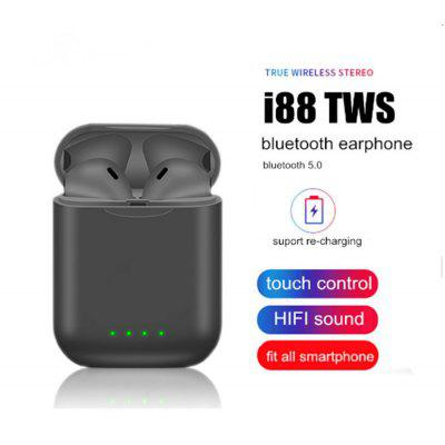 I88 TWS Bluetooth 5.03D Surround Touch Stereo Wireless Sports Headphone for IOS and Samsung Huawei