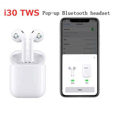 i30 touch control pop-up window Bluetooth 5.0 sports stereo headphones