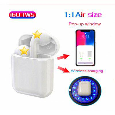 I60TWS Click-to-Control Pop-up Window Bluetooth 5.0 Stereo Headset with Wireless Charging