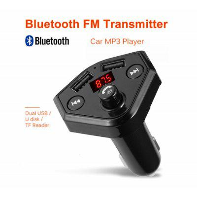B4 Bluetooth FM Transmitter Hands-free Car MP3 Player TF Music Adapter Receive Dual USB