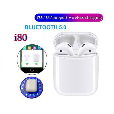I80 Bluetooth 5.0 Touch Pop-up Sports Stereo Headphones Support Wireless Charging.