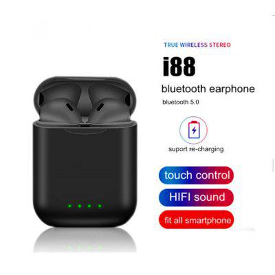 I88  Bluetooth 5.03D Surround Touch Stereo Wireless Sports Headphone for IOS and Samsung Huawei
