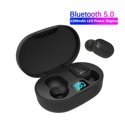 A6S new upgrade E6S digital display 3D stereo mini Bluetooth 5.0 headset with dual microphone