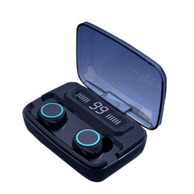 LED digital touch screen 5.0 IPX7 waterproof mini wireless Bluetooth headset call binaural HD