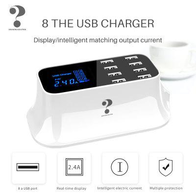 QC3.0 USB Smart Charger C-Led Station Fast Charge USB Charger for iPhone