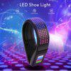 LED display clip light for running shoes outdoor luminous bicycle walking night safety light