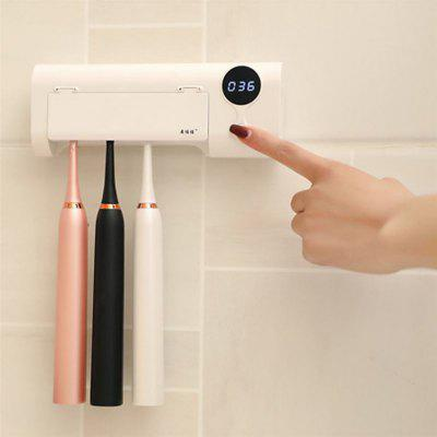 2020 New Smart Induction UV Toothbrush Holder Disinfection Box Toothbrush Cleaner Wall Mount