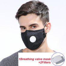 Respirable Outdoor Mask With 5-layer Replaceable Active Filter eEement PM2.5 With Breathing Valve