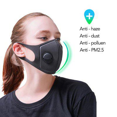 Non-Medical Half-Face Mask Of Neutral Dust Sponge With Breathing Valve Reusable To Clean Breathing Valve Mask