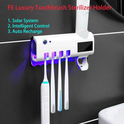 Ultraviolet 1.2W Solar Toothbrush Toothpaste Dispenser Wall Mount Disinfector Bracket Wall Mount