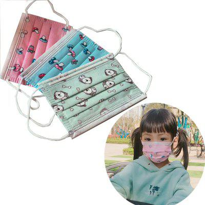 Cartoon Children 3-Iayer Disposable Safety Mask Dust-Proof Breathable Non-Woven Mask