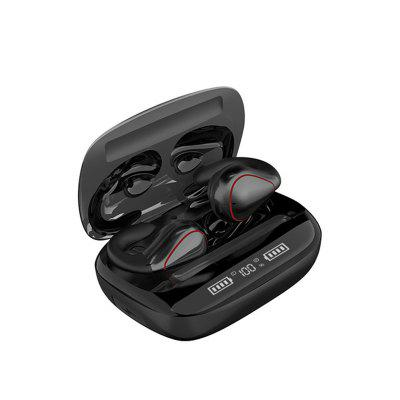 Q20-TWS Wireless Bluetooth 5.0 Touch Screen Stereo HIFI Waterproof Sports Headset With LED Display