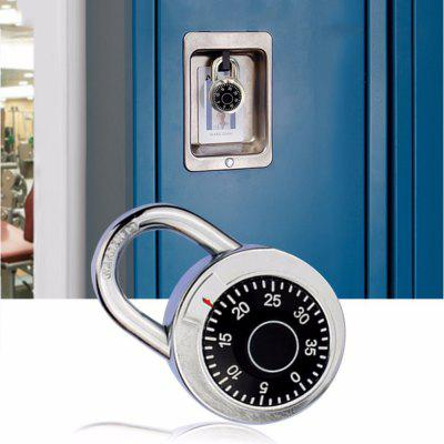 Mini Rotary Digital Security Round Dial Code Padlock Suitable For Suitcase Luggage Suitcase Drawer Cabinet