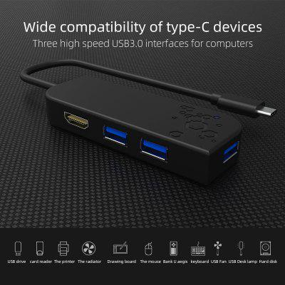 5-In-1 Docking Station Usb Type-C Hdmi Type-c Hub Computer HUB Adapter