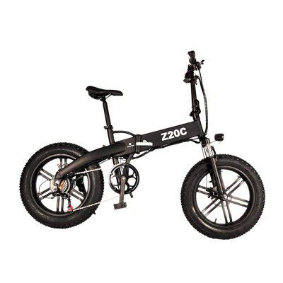 A Dece Oasis ADO Z20C 350W Folding Fat Tire Electric Bike with 36V 10Ah Lithium-ion Battery - Black Germany