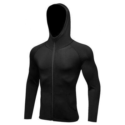 Men Fitness Gym Athletic Running Jacket Sportswear Casual Youth Hooded Jacket