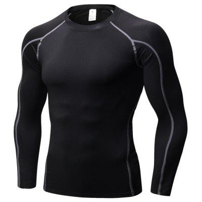 Men Tight Jersey Fitness Sport Suit Gym Blouse Running Shirt Bodybuilding Sportswear