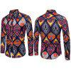 Men Long Sleeve Printed Floral Beach Club Shirts Casual Slim Fit Shirts Holiday Shirts
