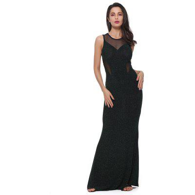 Woman Paillette Sexy Leaky Party Formal Cocktail Evening Dress