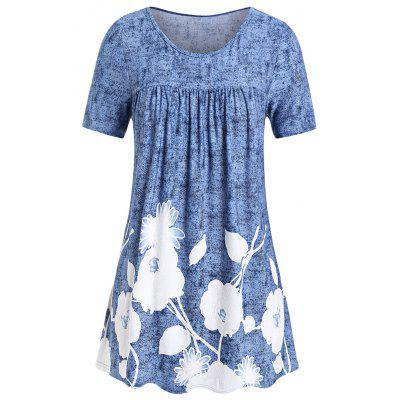e8dd6410 Good Value Women Plus Size Floral Print Flare T Shirt Summer Casual Wear