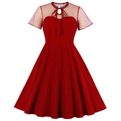 Women Sexy Sweetheart Bust Vintage Style Swing Lace Evening Party Dress Prom Dress