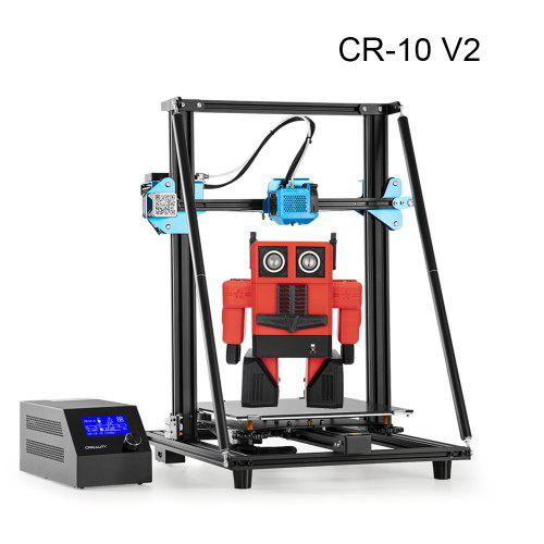 Creality 3D Printer CR-10 V2 New Version with Silent Mainboard Resume Printing 300x300x400mm