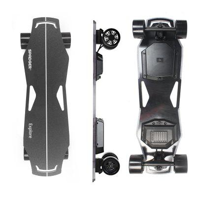 SPADGER Longboard Electric Skateboard Distance Up To 22km With Wireless Bluetooth Remote Control