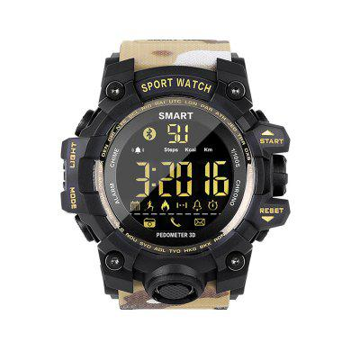 EX16S Uomo Camouflage Bluetooth Smart Sports Watch Health Sports Monitoring per Android e IOS