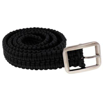 Yougle Tactical 550 Paracord Parachute Cord Waist Belt Survival Woven Belt With Metal Buckle