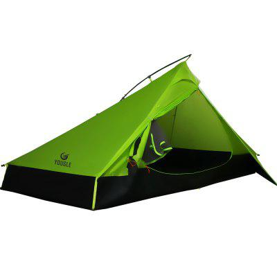 Yougle 20D One Layer 2 Men Person Backpacking Tent 3 Season For Camping Trekking Travel Ultralight
