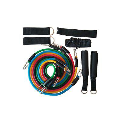 Yougle 11pcs Latex Fitness Workout Resistance Bands Training Exercise Pilates Tubes Pull Rope