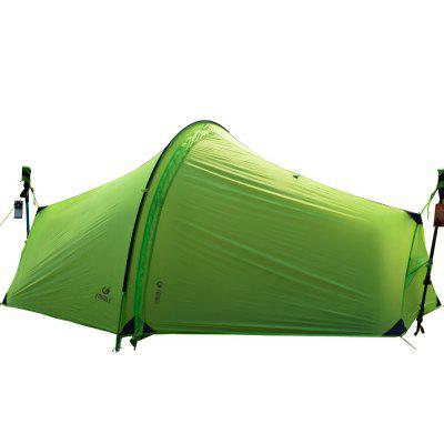Yougle 15D Double Layer One Men Single Person Tunnel Backpacking Tent 3 Season For Camping