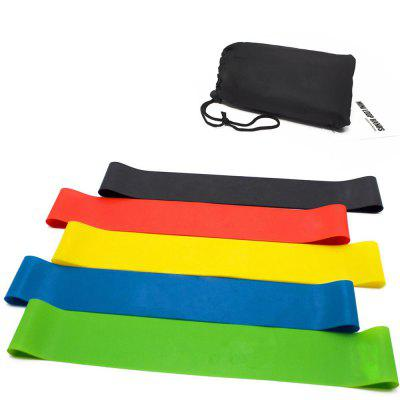 Yougle 5 Pcs Resistance Band Levels Latex Strength Training Loops Workout Fitness