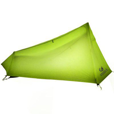YOUGLE Lightweight 15D Nylon Single Person One Man Backpacking Tent Trekking Camping Canopy 3 Season