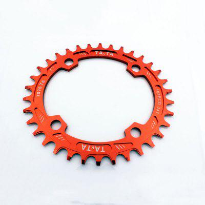 104mm MTB Bike Single Narrow Wide Oval Chainring 34T Chain Ring Wheel Aluminum