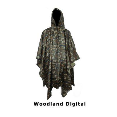 Yougle Jungle Hunting 3 in 1 Tactics Camouflage Raincoat Poncho Backpack Rain Cover Tent Mat Awning