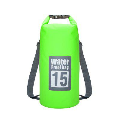 15L Waterproof Dry Bag Sack Storage Pack Pouch Swimming Kayaking Canoeing River Trekking Fishing