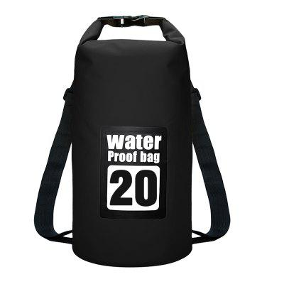 20L Waterproof Dry Bag Sack Storage Pack Pouch Kayaking River Trekking Fishing Double Straps
