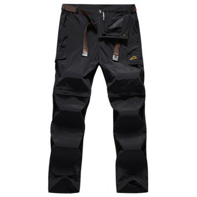 Men Tactical Lightweight Zip Off Quick Drying Stretch Convertible Cargo Pants Shorts Bottom